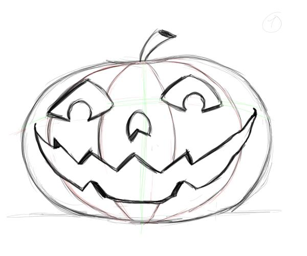 Drawing A Face On A Pumpkin