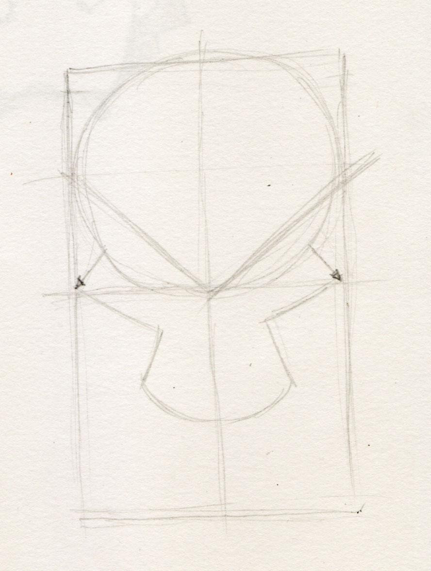 Scary Evil Skull Skull Drawing Easy